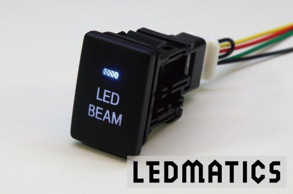 画像1: トヨタ LED BEAMスイッチ PLあり 白LED/青LED SW-LB2