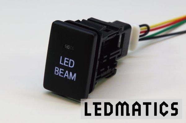 画像2: トヨタ LED BEAMスイッチ PLあり 白LED/青LED SW-LB2