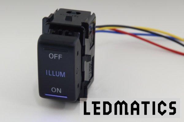 画像1: 日産 オーテック イルミスイッチ 白LED/青LED SW-OI22