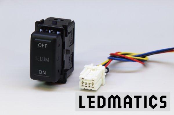 画像3: 日産 オーテック イルミスイッチ 白LED/青LED SW-OI22